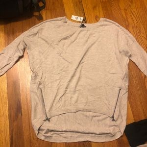 Express 3/4 sleeve sweater size xs with zippers